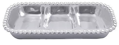 Mariposa Serving Trays and More String of Pearls Pearled Small 3-Section Server $98.00