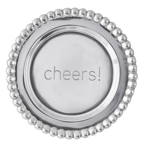 $39.00 Cheers Beaded Wine Plate