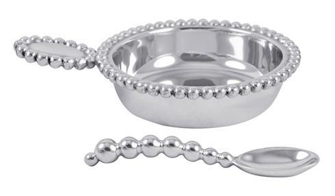 $54.00 Pearled Baby Porringer & Spoon