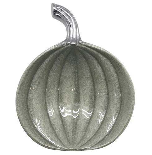 $42.00 Teal Small Pumpkin Dish