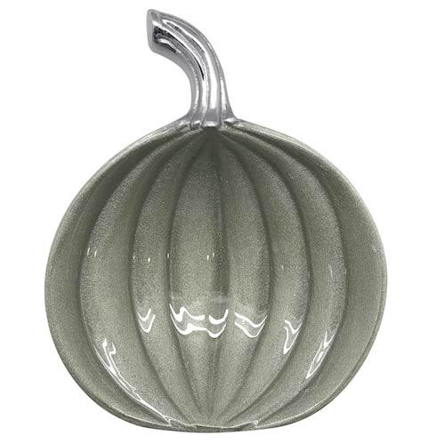 $42.00 Teal Small Pumpkin Dish