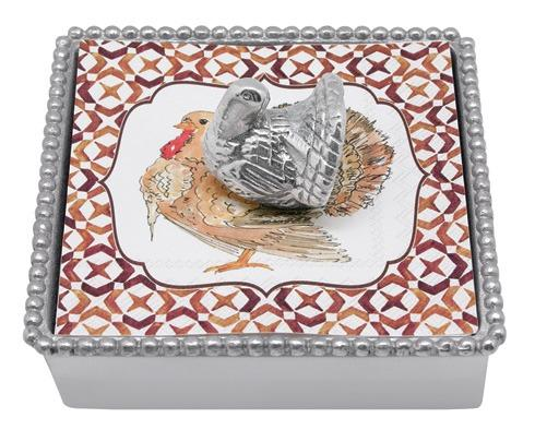 $49.00 Turkey Beaded Napkin Box