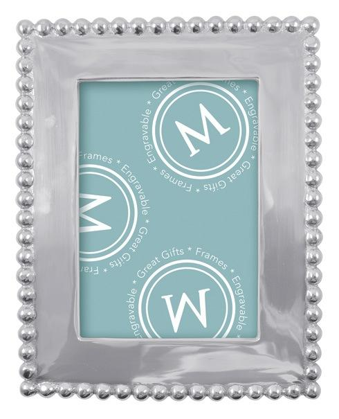 Mariposa Photo Frames String of Pearls Pearled 5 X 7 Frame $79.00
