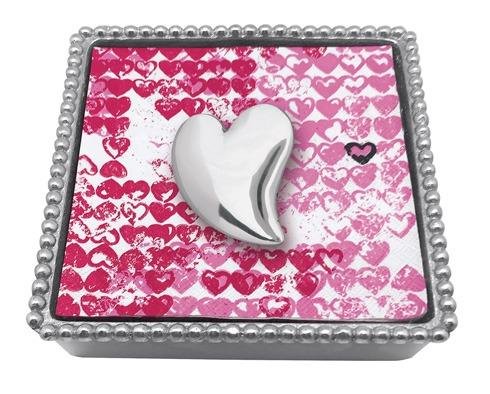 $49.00 Heart Beaded Napkin Box