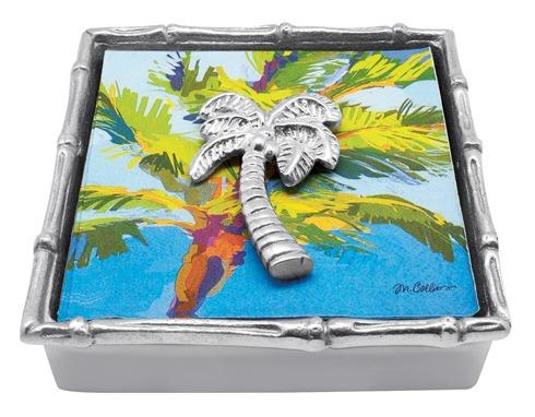 $49.00 Palm Tree Bamboo Napkin Box