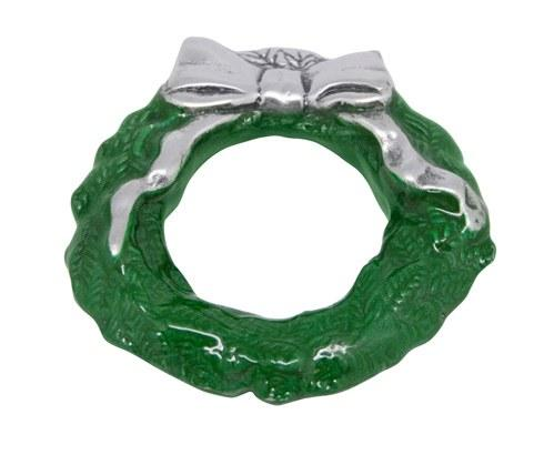 Mariposa Napkin Boxes and Weights Traditions Green Wreath Napkin Weight $14.00