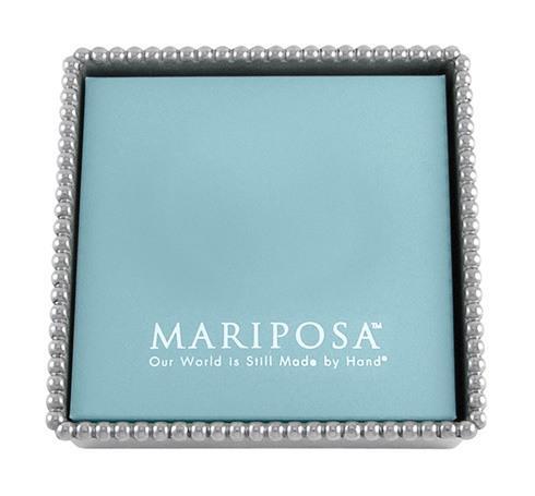 Mariposa  Beaded Beaded Napkin Box W Insert $39.00