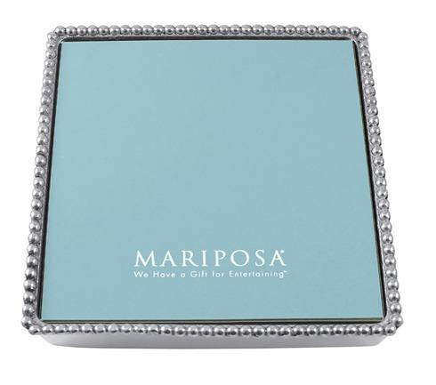 Mariposa Napkin Boxes and Weights String of Pearls Beaded Luncheon Napkin Box W $52.00