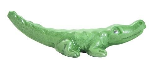Mariposa Napkin Boxes and Weights Palmy Nights Green Alligator Napkin Weight $14.00