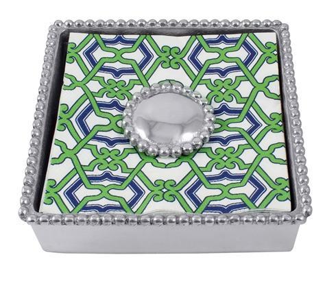 Mariposa Napkin Boxes and Weights String of Pearls Jacki Pearled Beaded Napkin Box $48.00