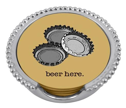 $39.00 Beer Beaded Coaster Set