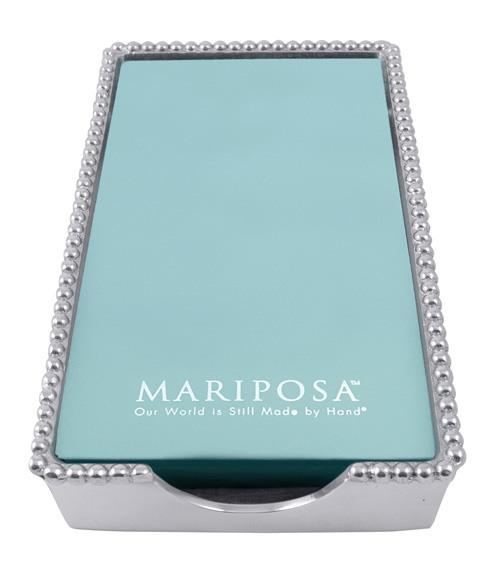 Mariposa Napkin Boxes and Weights String of Pearls Beaded Guest Towel Box, Empty $54.00