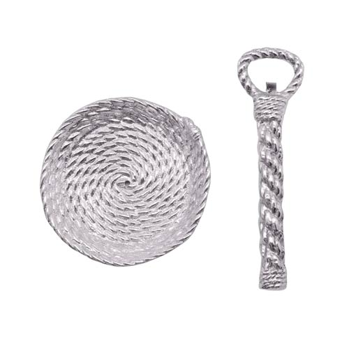 $48.00 Rope handle Bottle Opener & Top Catcher Set