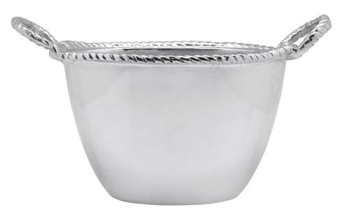Mariposa Barware High Seas Rope Oval Small Ice Bucket $98.00
