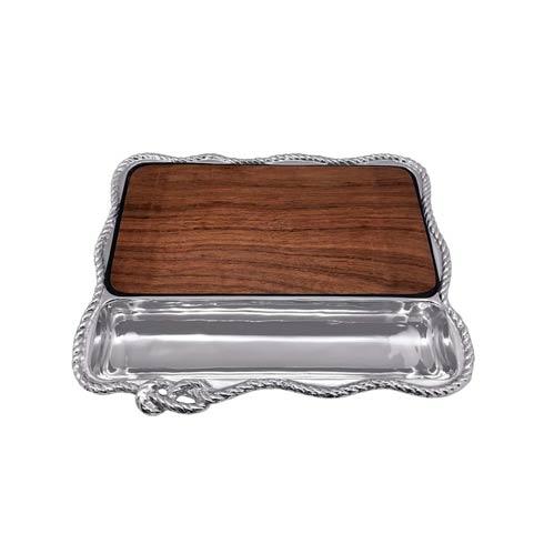 Mariposa  High Seas Rope Cheese Board with Dark $159.00