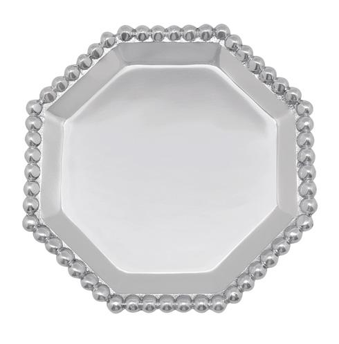 Mariposa Nut and Sauce Dishes String of Pearls Pearled Octagonal Canape Plate $32.00