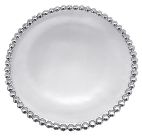 Mariposa Serving Trays and More String of Pearls Pearled Small Round Platter $69.00