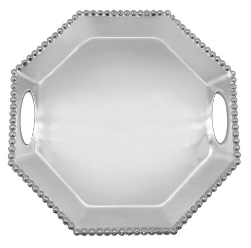 Mariposa Serving Trays and More String of Pearls Pearled Octagonal Tray $139.00