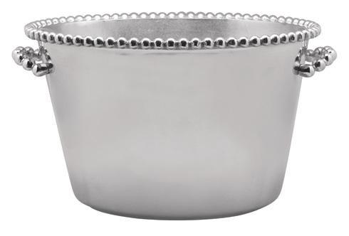 Mariposa Barware String of Pearls Pearled Medium Ice Bucket $250.00