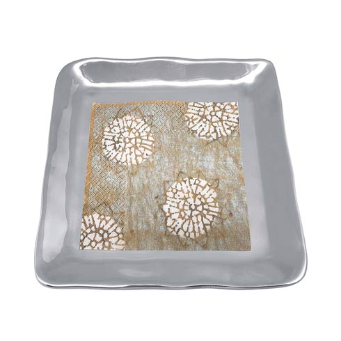 $52.00 Block Print Small Square Plate