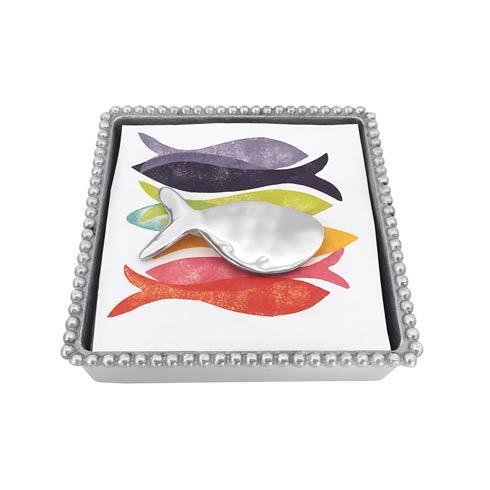 $49.00 Shimmer Fish Beaded Napkin Box