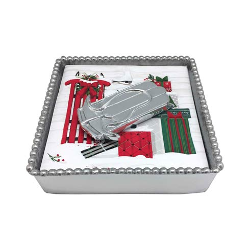 $48.00 Beaded Box with Sled Weight