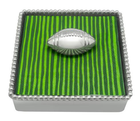 $49.00 Football Beaded Napkin Box