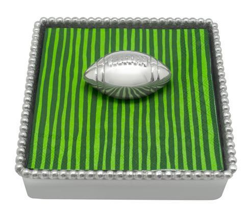 Football Beaded Napkin Box