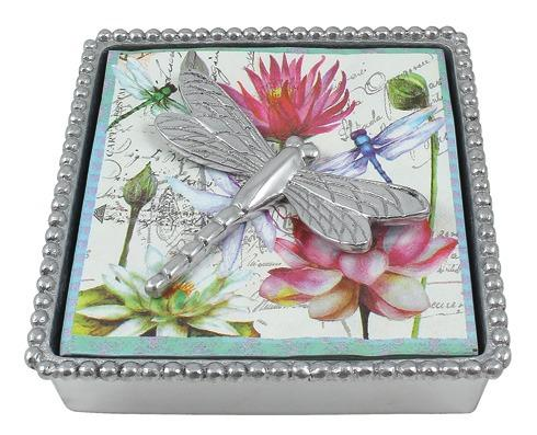 $49.00 Dragonfly Beaded Napkin Box