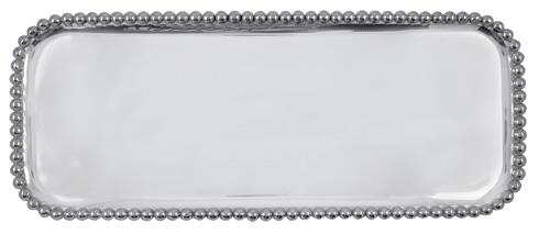 Mariposa Serving Trays and More String of Pearls Pearled Long Platter $124.00