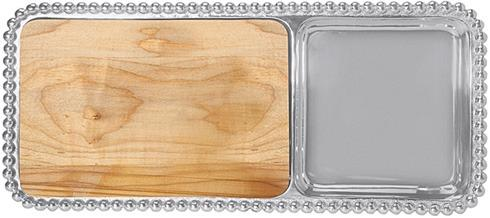 Mariposa Serving Trays and More String of Pearls Pearled Cheese & Cracker Server $154.00