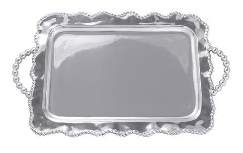 Mariposa Serving Trays and More String of Pearls Pearled Wavy Service Tray $179.00
