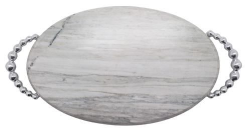Mariposa  String of Pearls Pearled Marble Serving Board $97.30