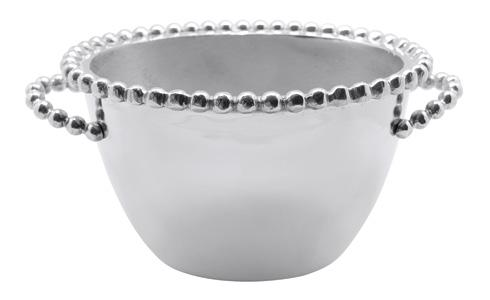 Mariposa Barware String of Pearls Pearled Oval Small Ice Bucket $98.00
