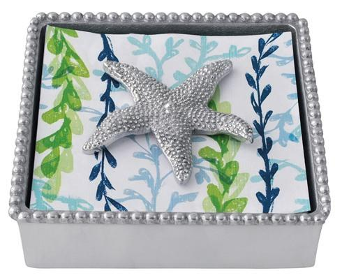 $49.00 Starfish Beaded Napkin Box