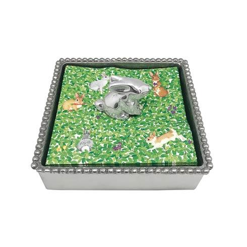 $49.00 Bunny Beaded Napkin Box