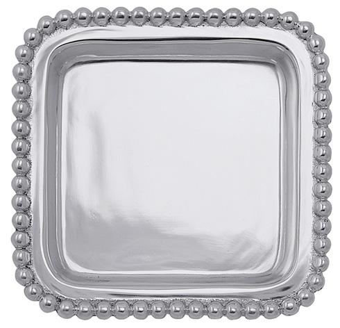 Mariposa Serving Trays and More String of Pearls Beaded Square Tray $26.00