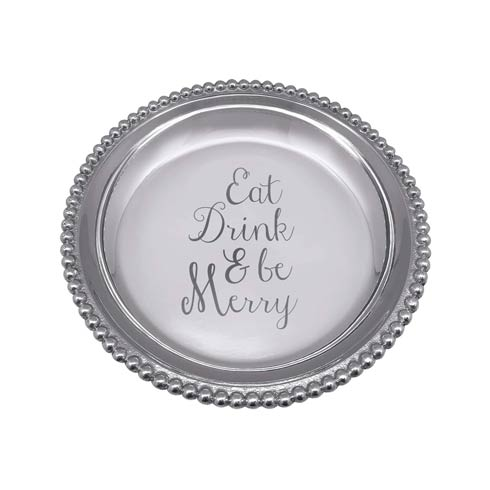 $54.00 EAT DRINK & BE MERRY Beaded Trinket Dish