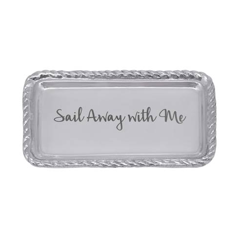 $27.30 SAIL AWAY WITH ME Rope Statement Tray