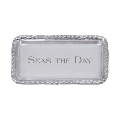$39.00 SEAS THE DAY Rope Statement Tray