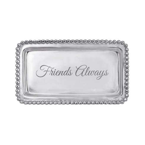 $39.00 FRIENDS ALWAYS Beaded Statement Tray  NEW