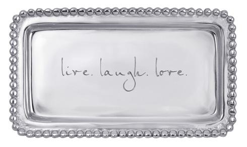 $39.00 Live.Laugh.Love Beaded Tray
