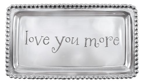 Mariposa Statement Trays Engraved Statements Love You More Beaded Tray $39.00