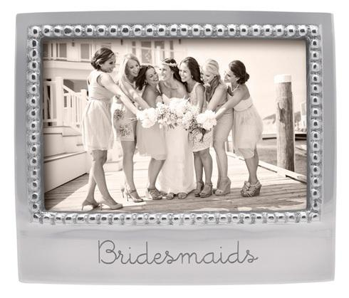Mariposa Photo Frames Engraved Statements Bridesmaids Beaded 4X6 Frame $49.00
