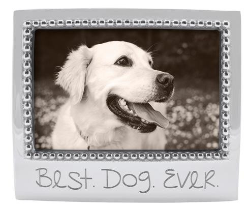 Mariposa  Engraved Statements Best Dog Ever Beaded 4X6 $49.00