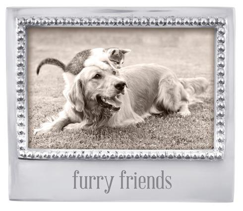 Mariposa Photo Frames Engraved Statements Furry Friends Beaded 4X6 $49.00