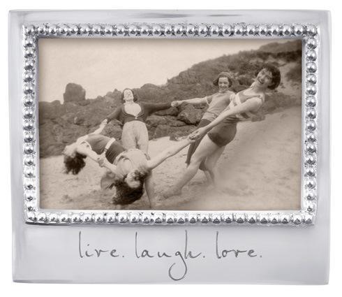 $49.00 Live. Laugh Love. Beaded 4 X 6
