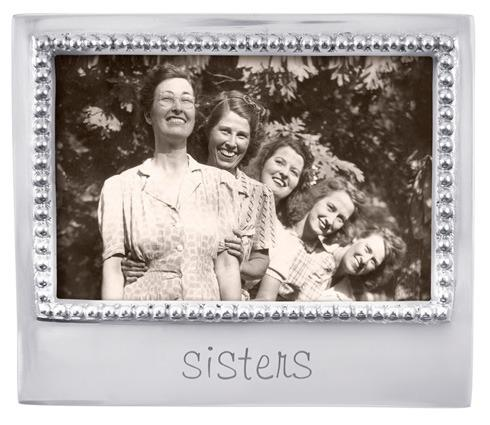 $49.00 Sisters Beaded 4X6 Frame