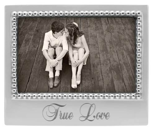 TRUE LOVE Beaded 4x6 Statement Frame