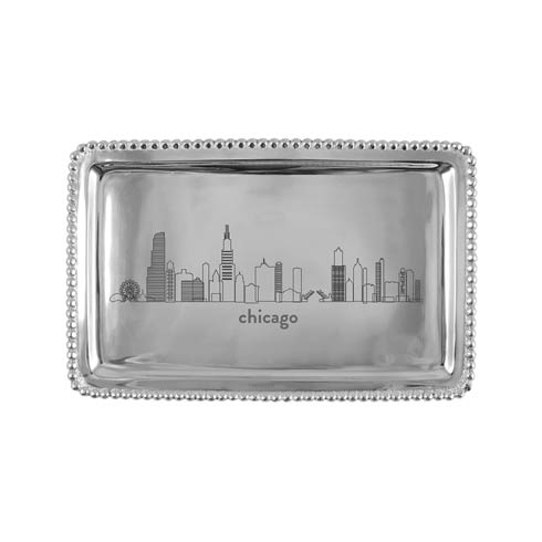 $54.00 CHICAGO Beaded Buffet Tray